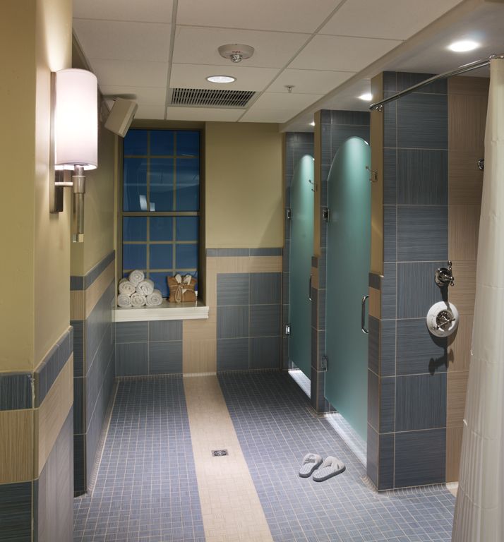 Locker room and individual showers