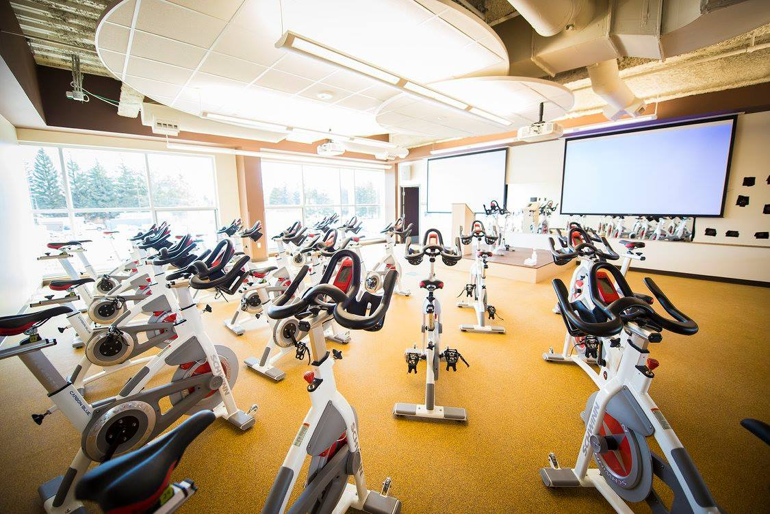 group cycling room
