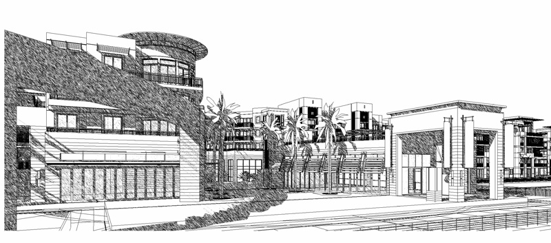 Exterior buildings (black and white)