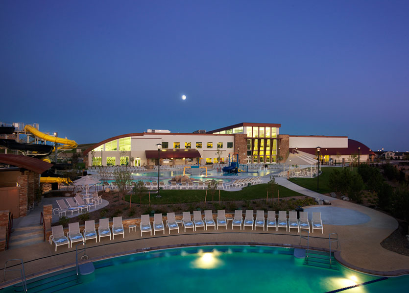 Exterior pool night