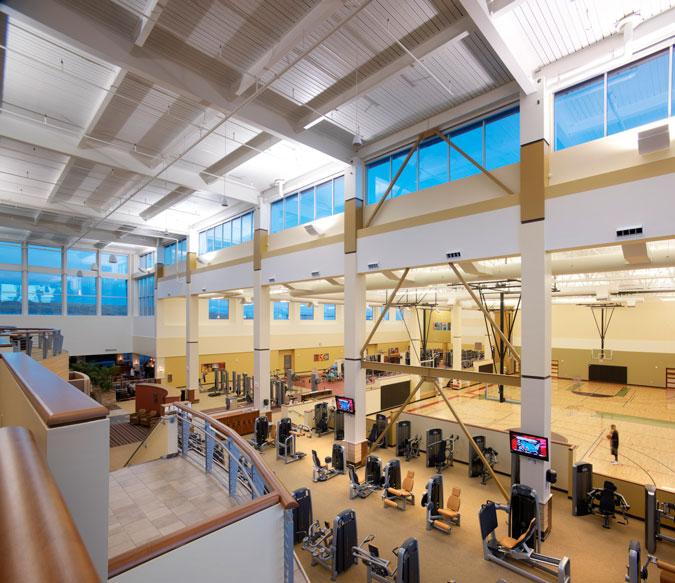 Workout area gymnasium