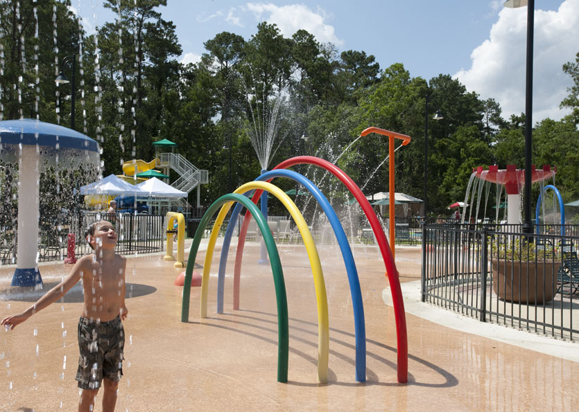 Outdoor splash park