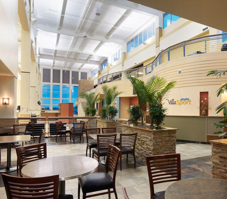 Interior lobby seating