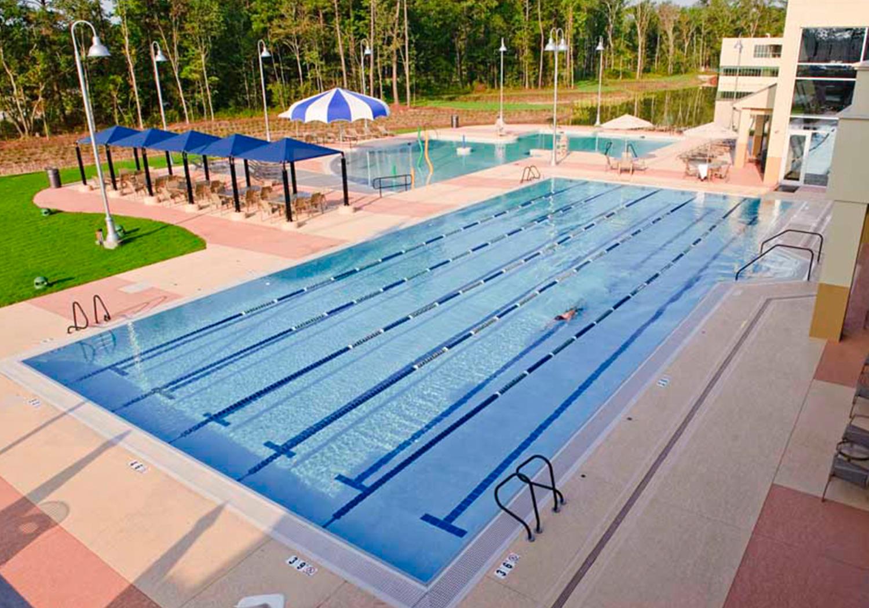 Outdoor lap pool