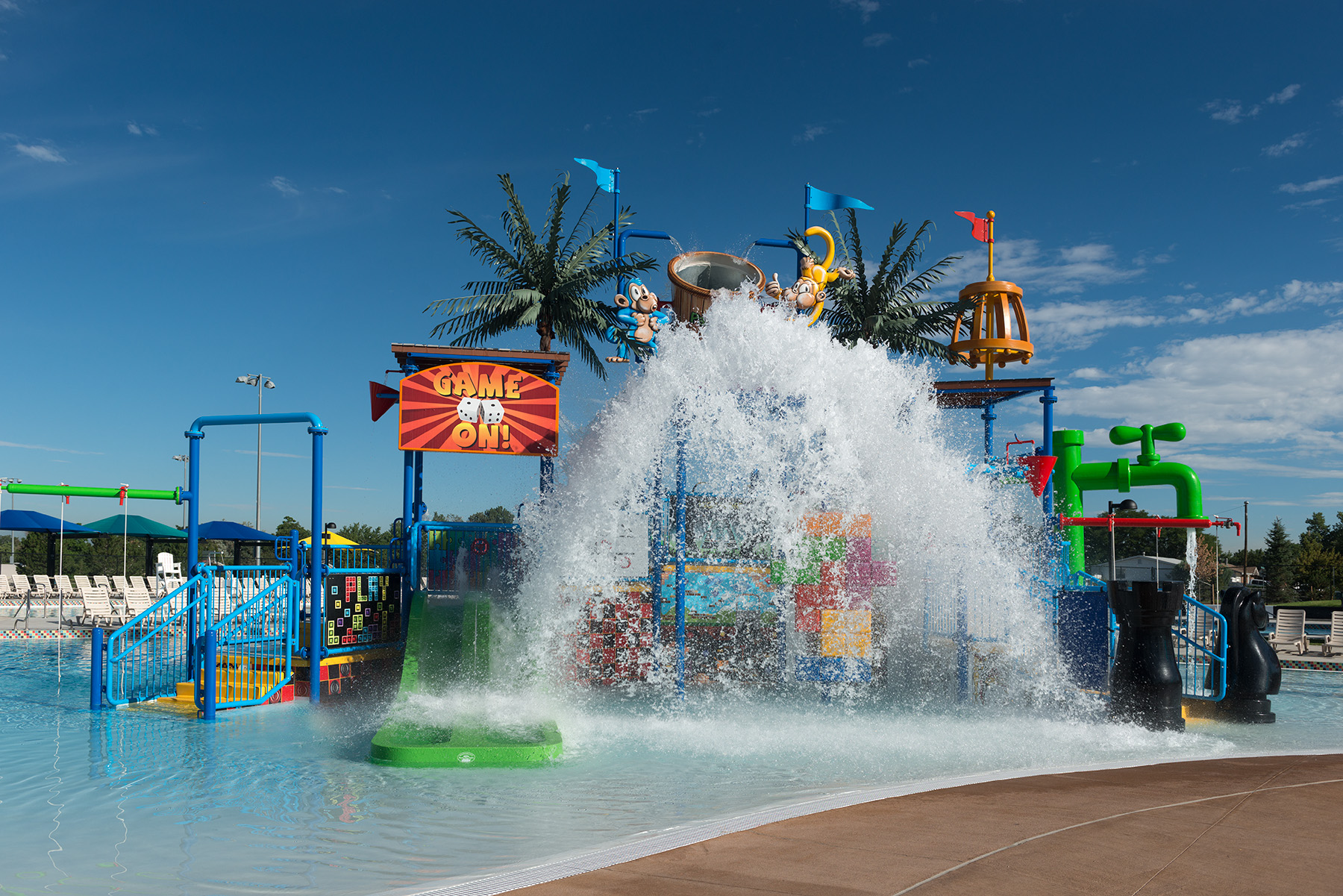 Game themed water park