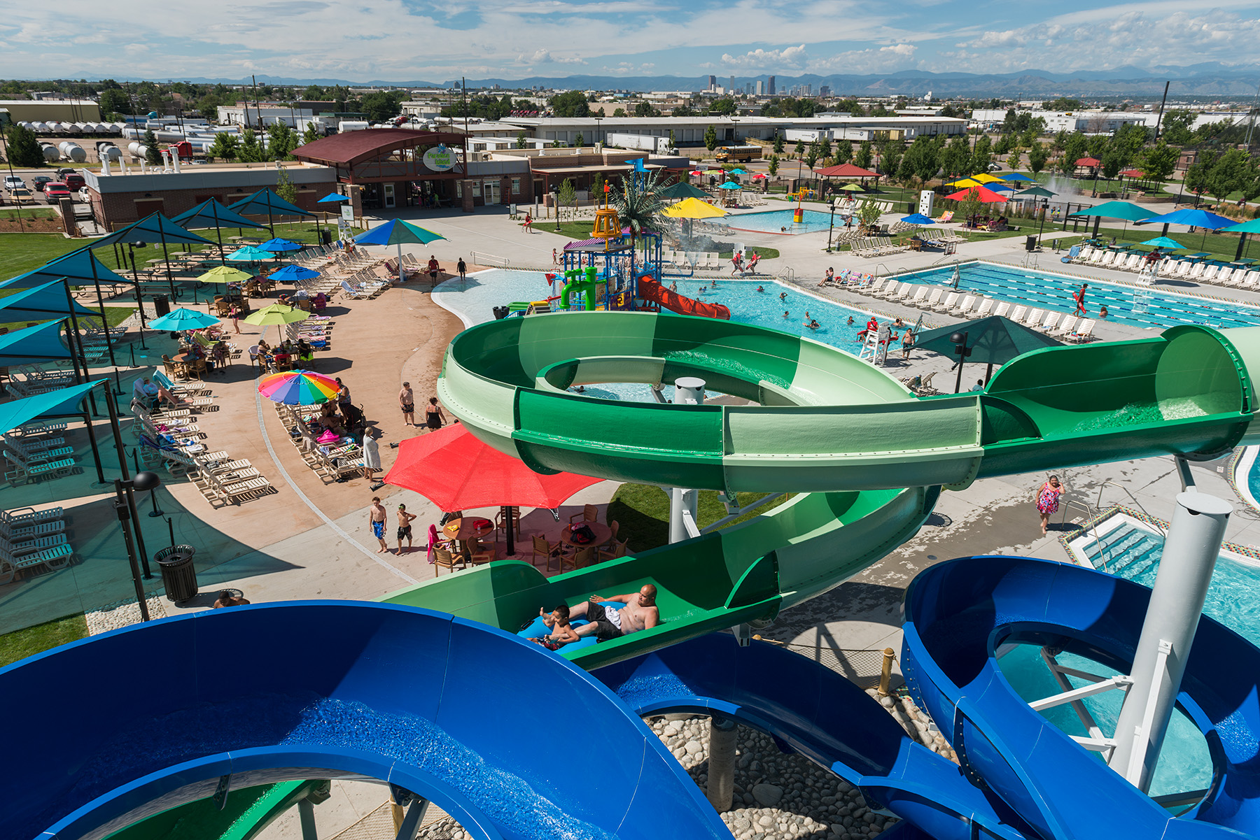 Overview of park and slides