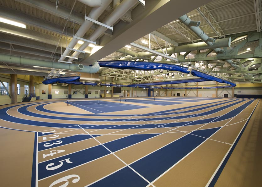 Indoor track and tennis