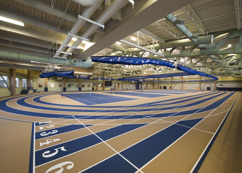 Indoor track and tennis