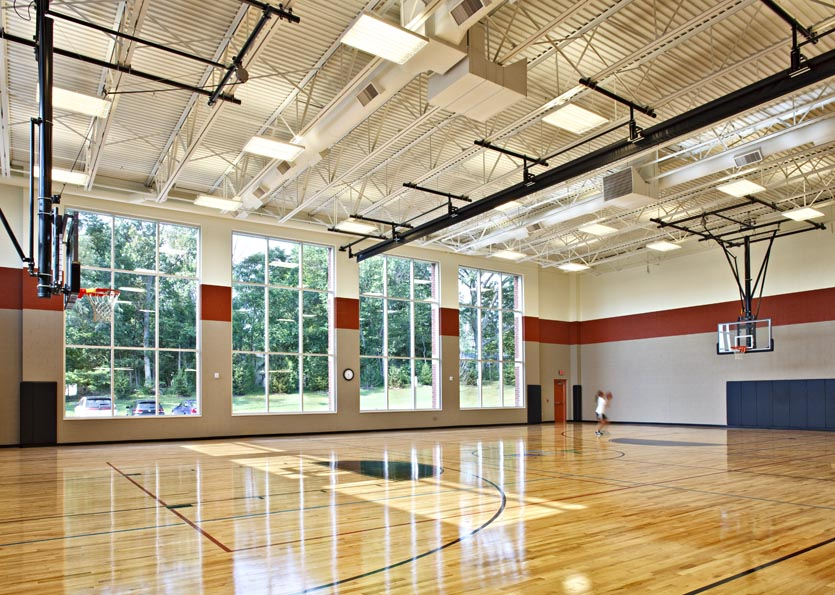 Daylight in gymnasium