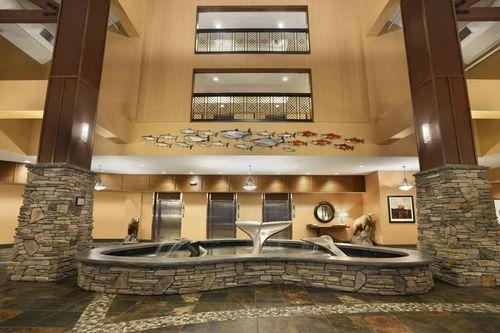 Lobby area fountains