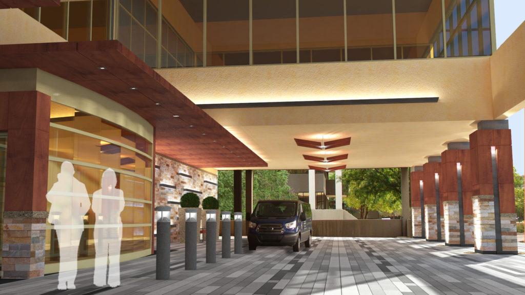Main entrance rendering