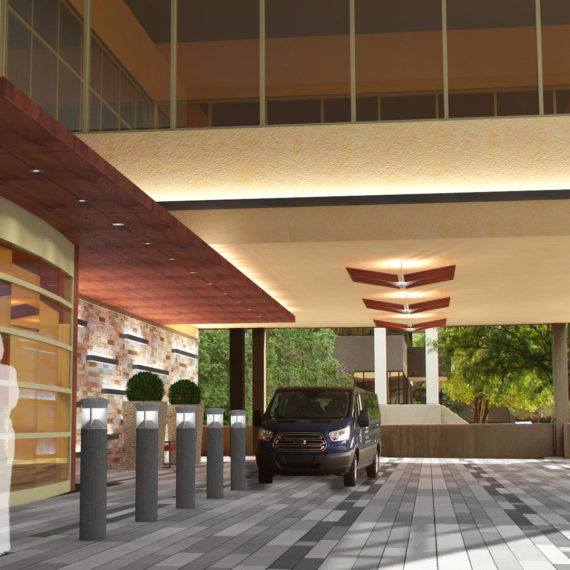 Main entrance rendering