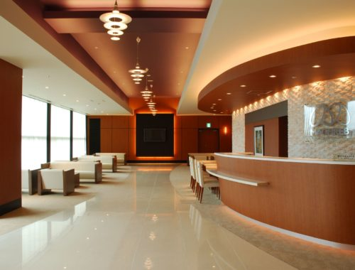 Reception desk and waiting area