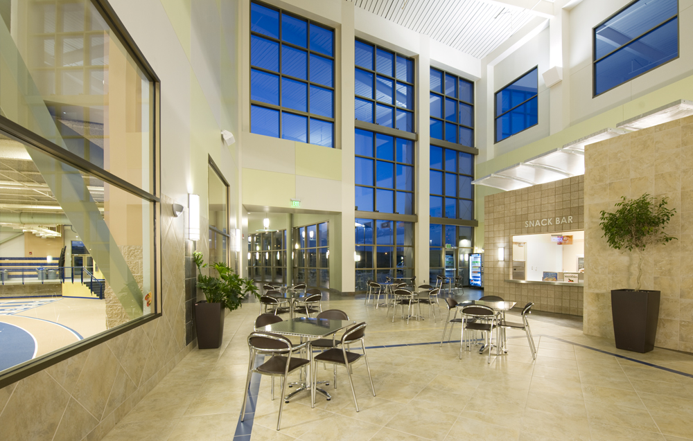 Interior lobby and snack bar