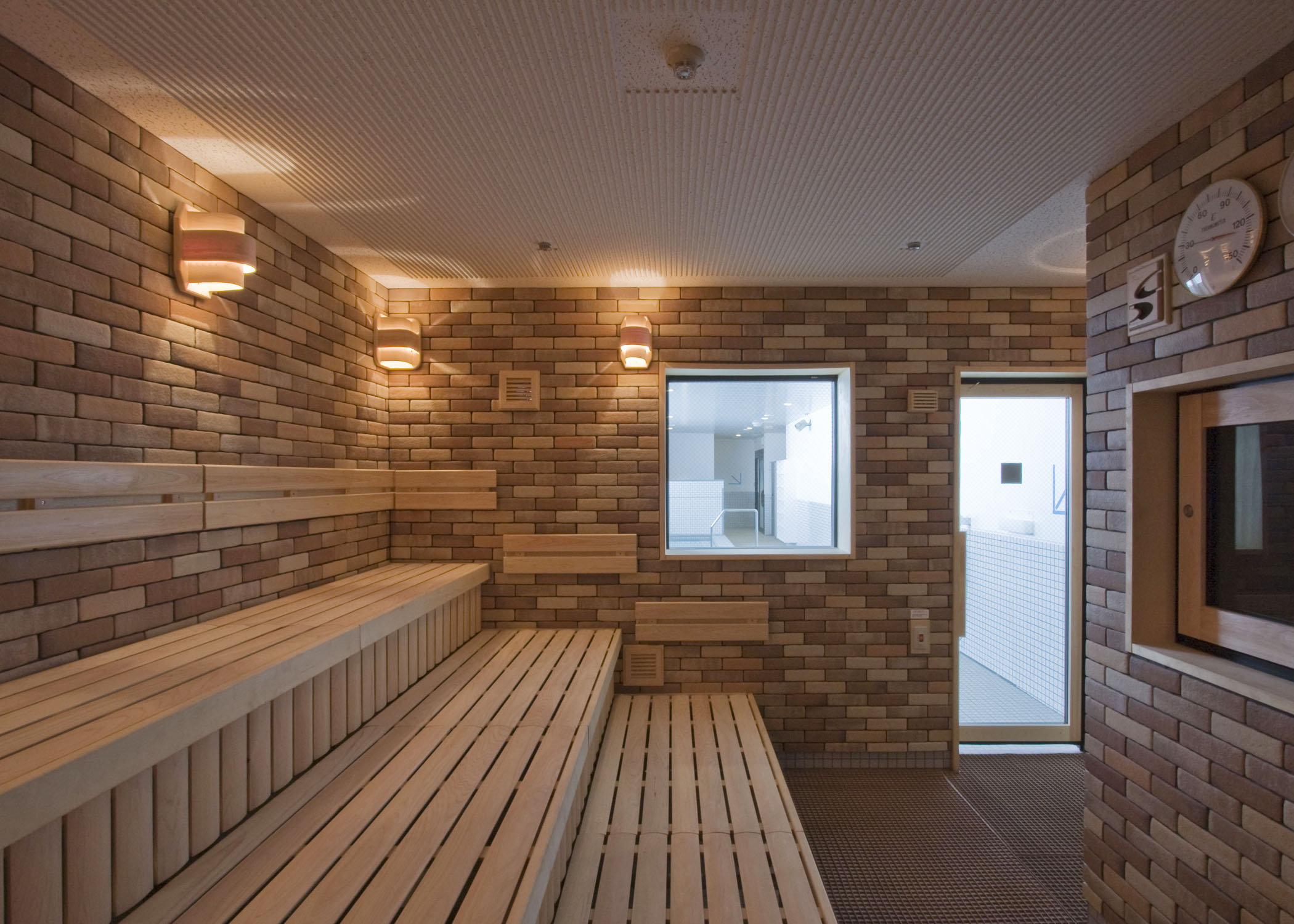 Brick sauna room