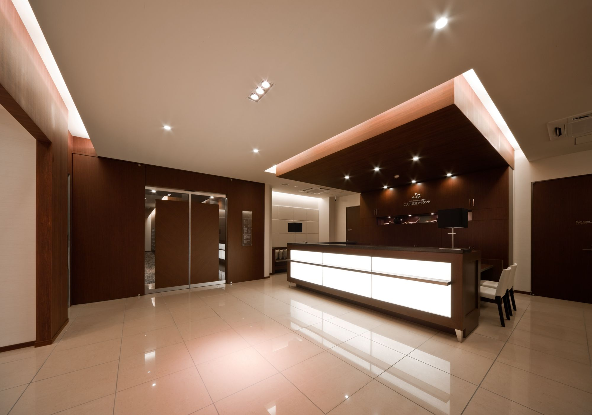Reception front desk