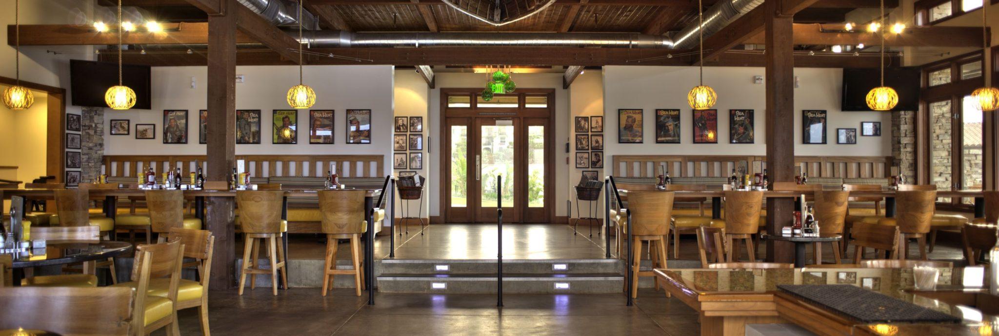 Bright interior of entrance