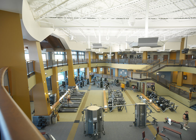 Overview of workout area