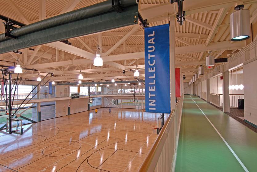 Upper level indoor track