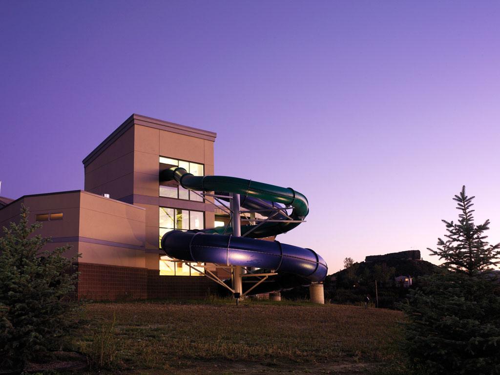 Exterior slide outside