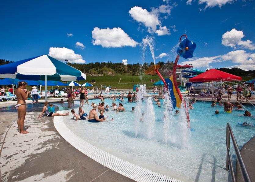 Kids water park area