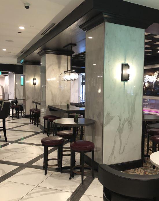 The Hub Bar seating area