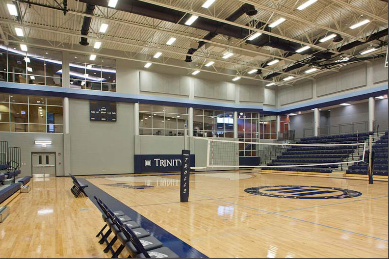 Gymnasium volleyball court