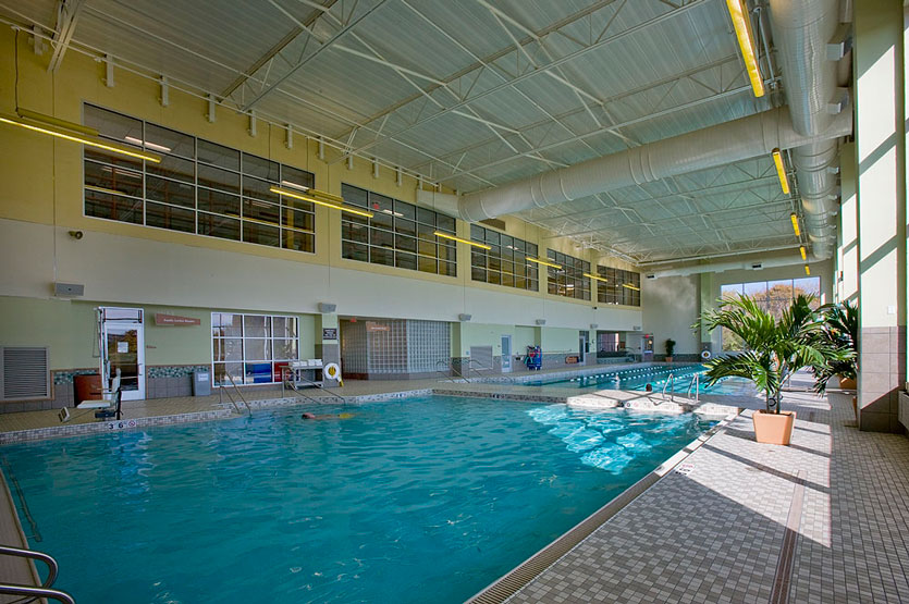Indoor leisure pool and lap pool