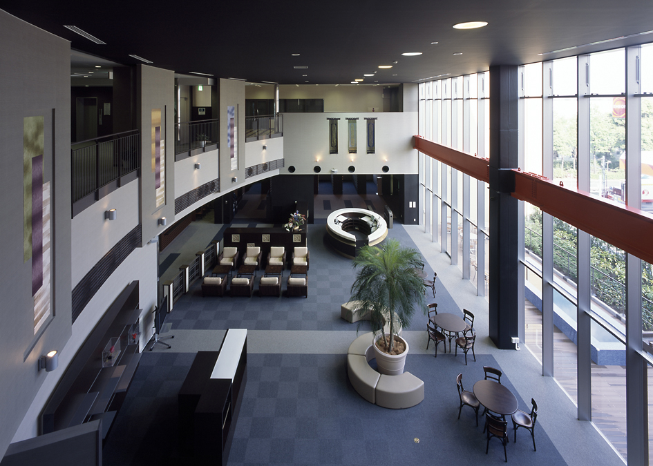 Second floor view of lobby