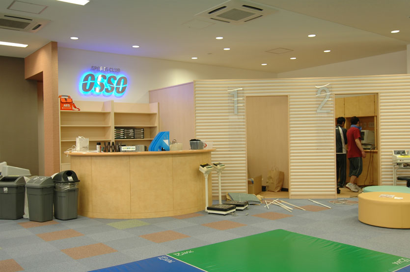 Sports club reception