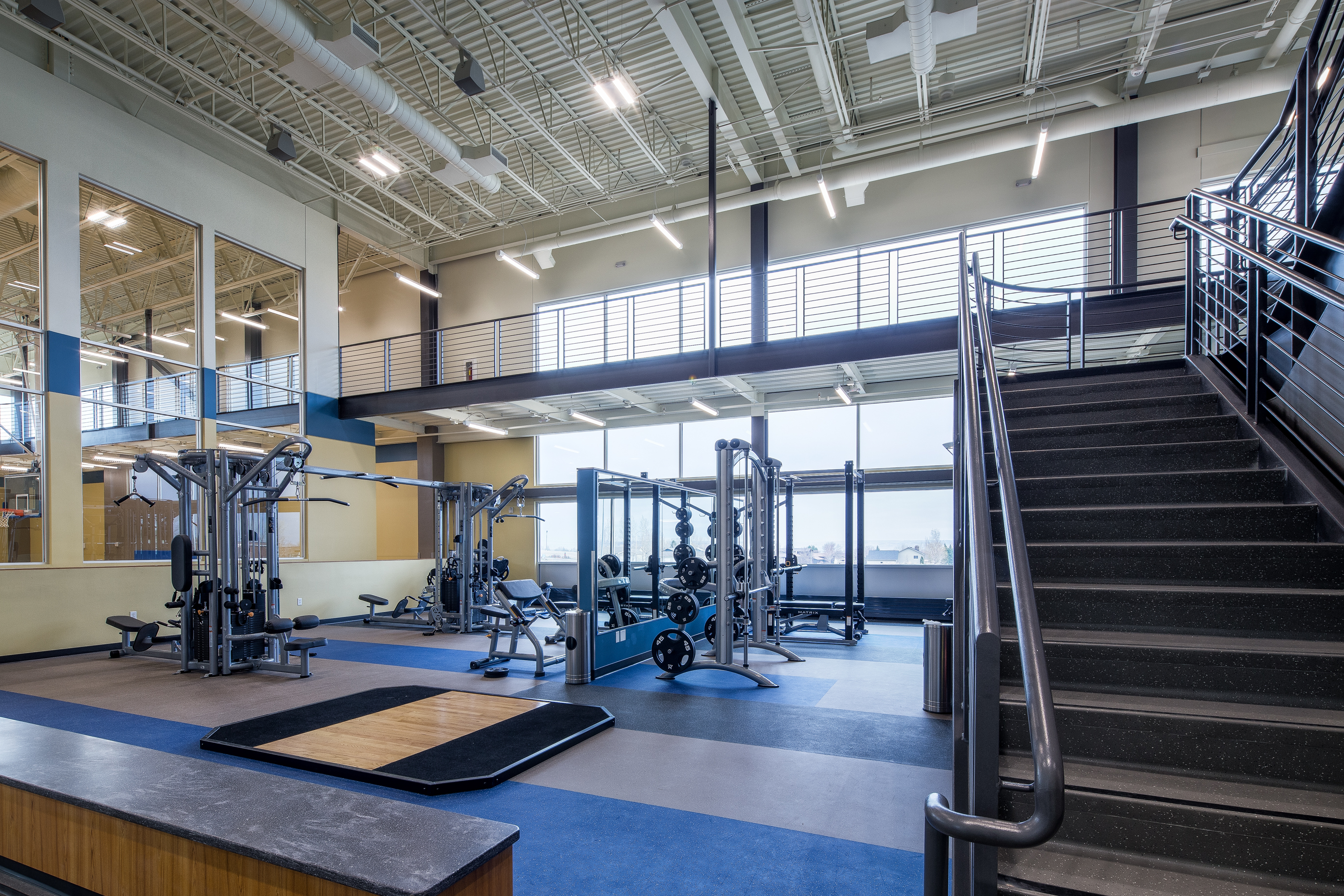Energy Wellness Center work out area with weight lifting machines