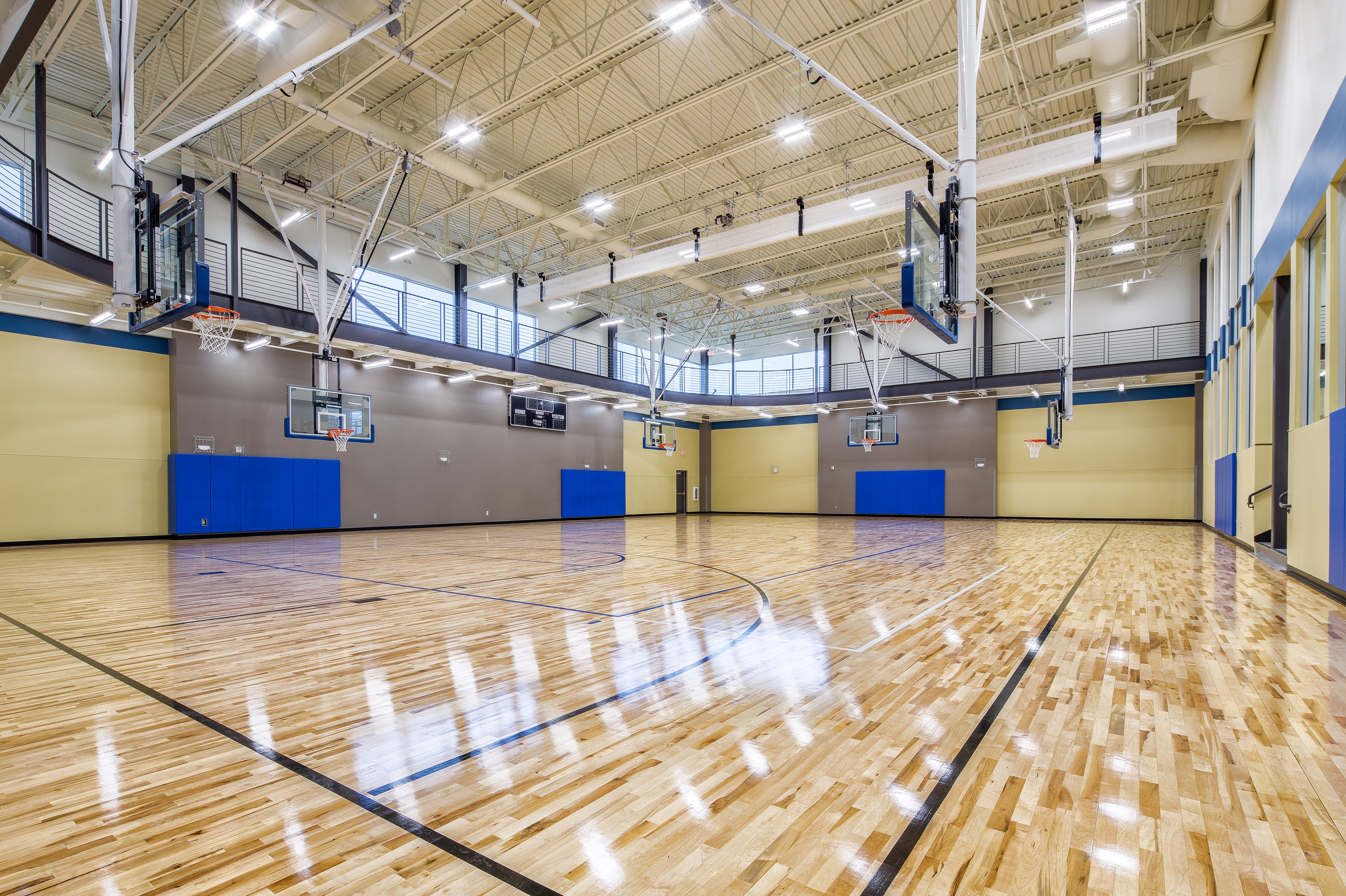Energy Wellness Center basketball court