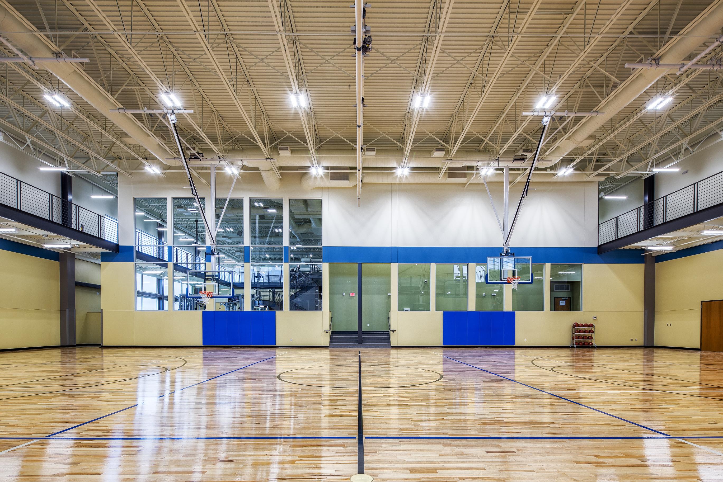 Energy Wellness Center basketball court