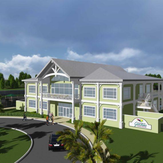 Palm Beach Gardens Tennis Center exterior view_rendering