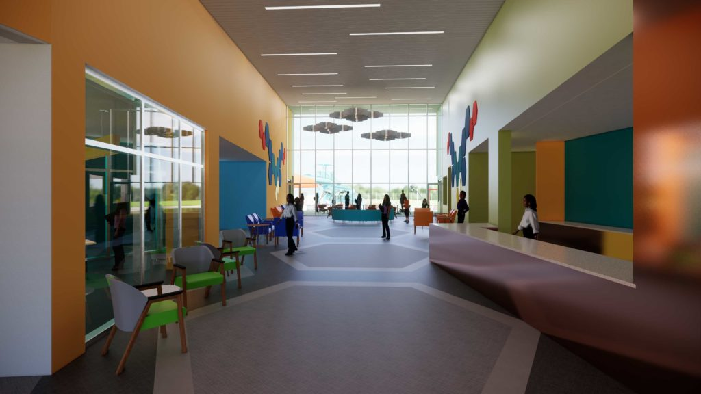 Dr. Ann Murphy Night STARS Complex Expansion Interior lobby with people