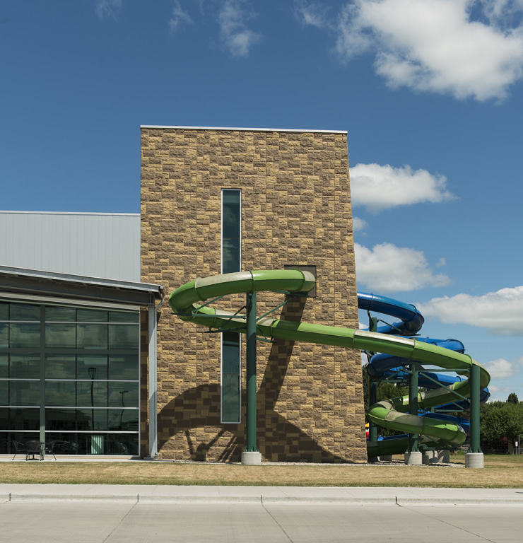 Choice Health and Fitness Exterior view of pool slide