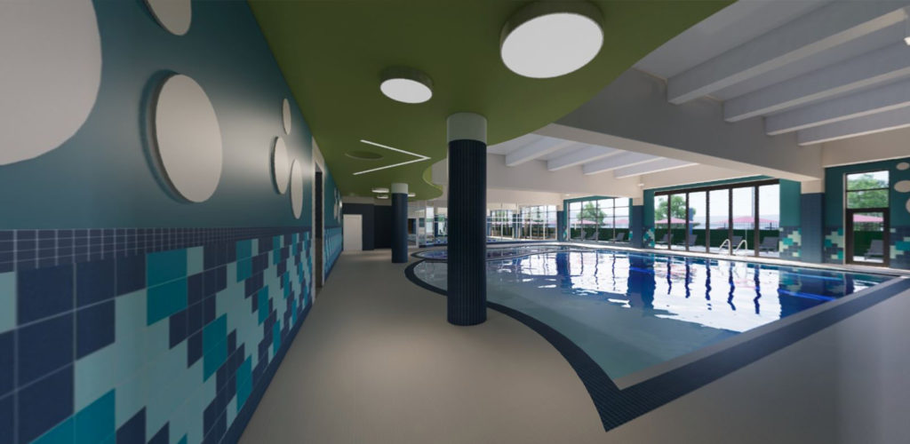 Lake Nona Center for Integrated Wellbeing Kids pool area