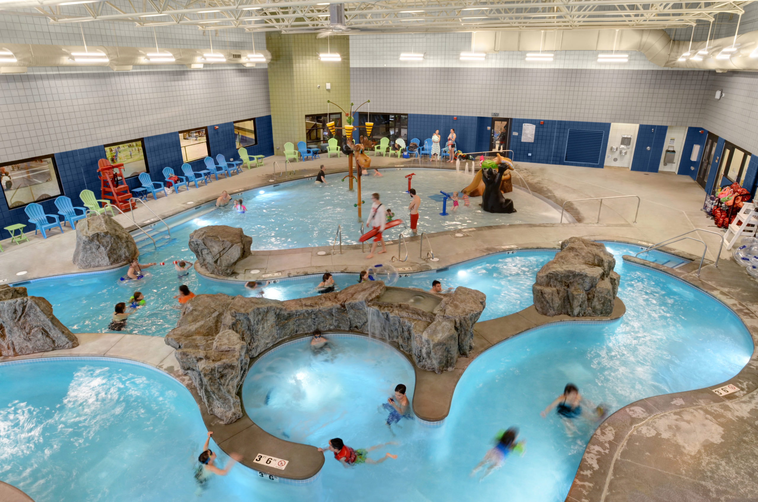 Estes Valley Community Center pool with lazy river