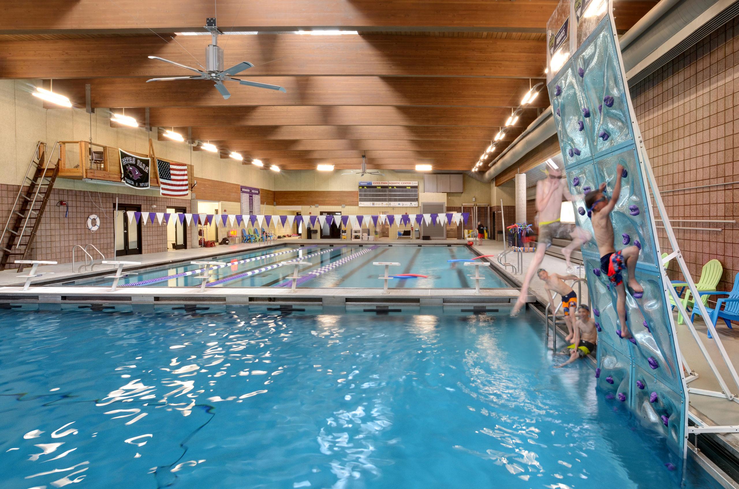Estes Valley Community Center Natatorium and aquatic climbing wall