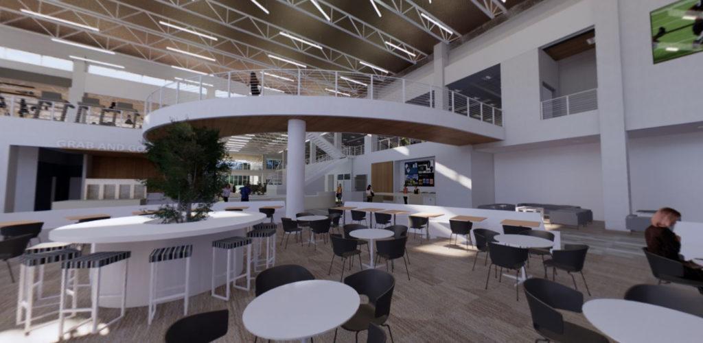 Hancock Health and Wellness Center Lobby area