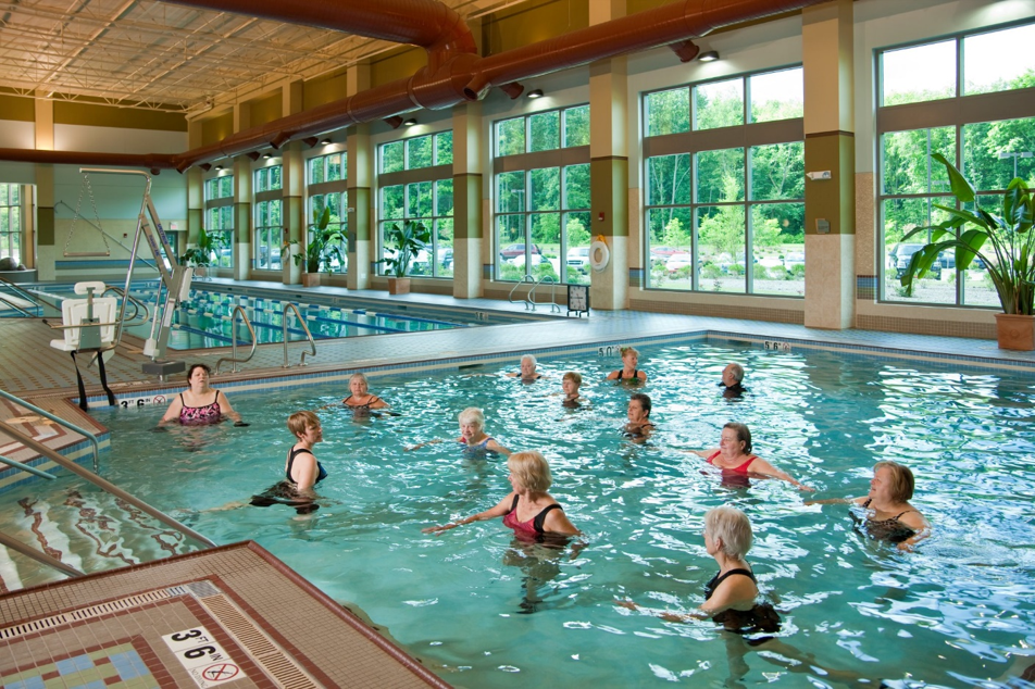 Summa Institute for Health and Wellness water aerobics with a view
