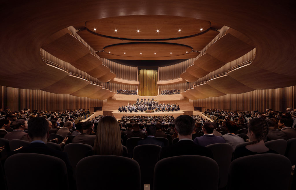National Concert Hall Competition_Inside Theatre, full house with orchestra performing