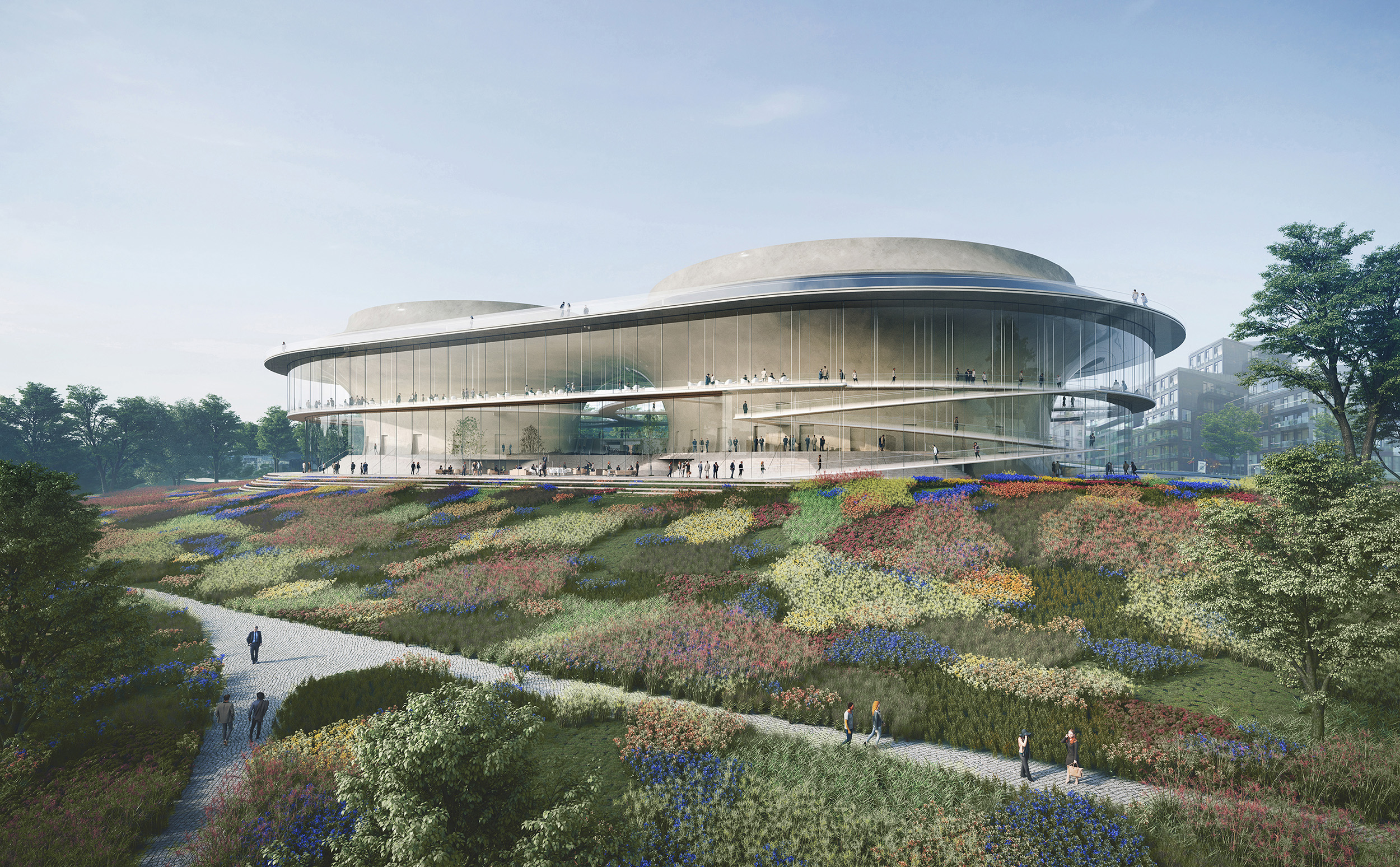NAtional Concert Hall Competition_Exterior View