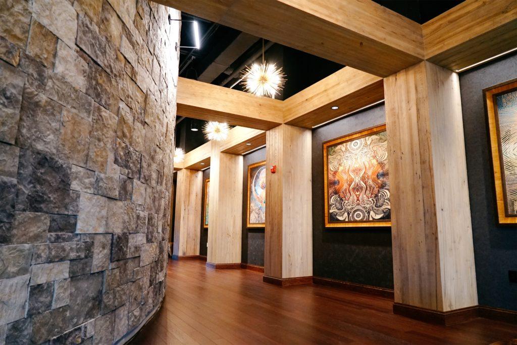 NAC Hallway with artwork on walls