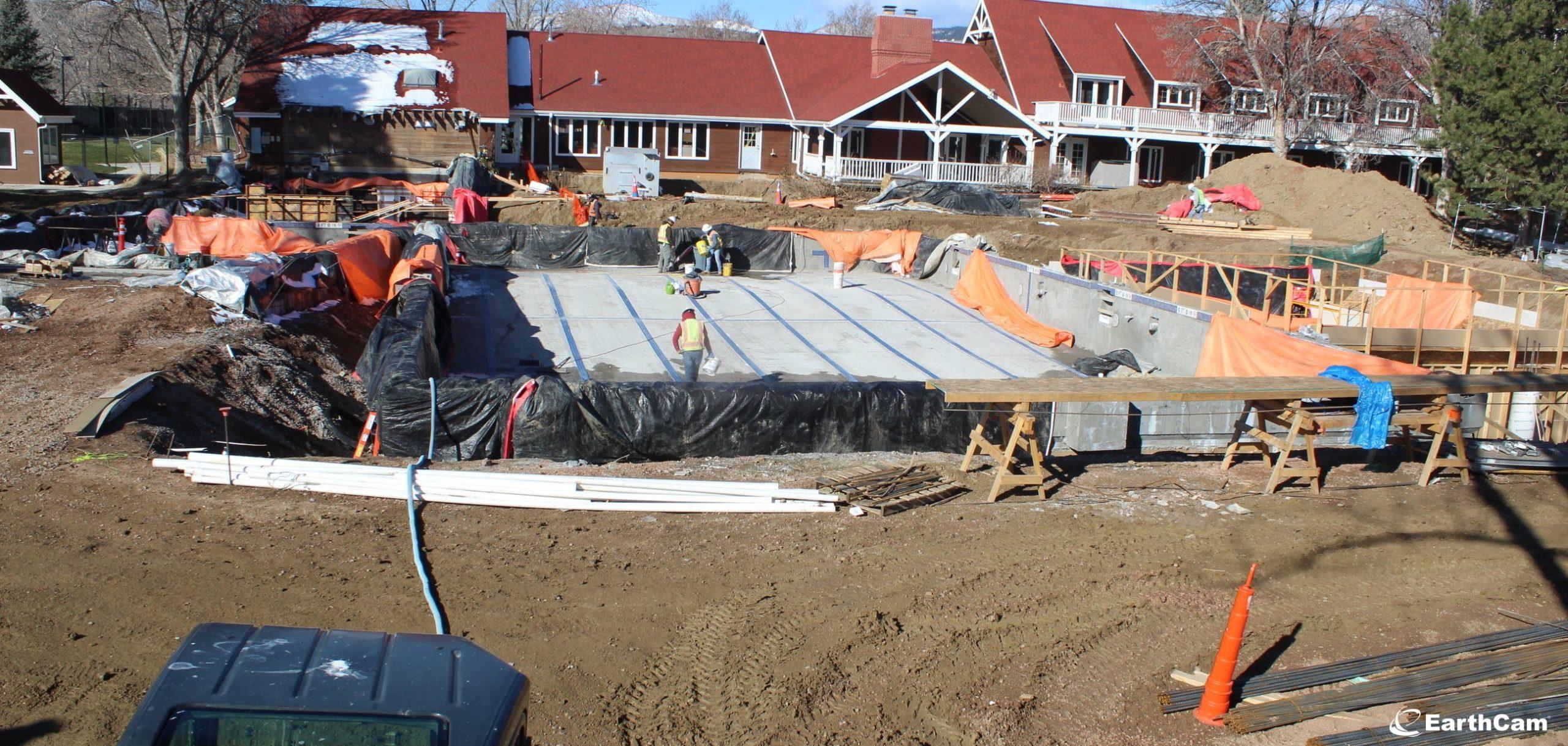 Ken Caryl Ranch pool construction photo